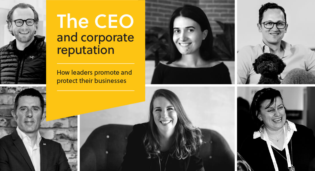 The CEO and corporate reputation whitepaper by Fourth Day. How leaders promote and protect their businesses.